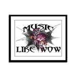Music Like Wow Framed Panel Print