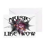 Music Like Wow Greeting Card
