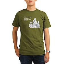 Workplace Rampage Organic Men's T-Shirt (dark)