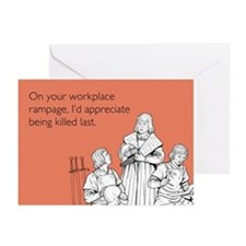 Workplace Rampage Greeting Cards (Pk of 10)