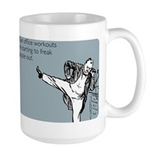 Office Workouts Large Mug