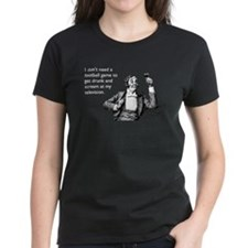 Football Drunk Women's Dark T-Shirt