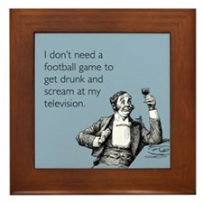Football Drunk Framed Tile