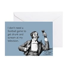 Football Drunk Greeting Card