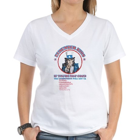 Remeber Kids (worn) Women's V-Neck T-Shirt
