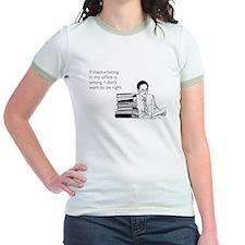 Office Masturbation Jr. Ringer T-Shirt