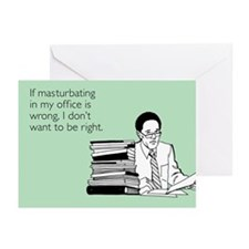 Office Masturbation Greeting Cards (Pk of 10)