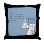 Inspirational Presentation Throw Pillow