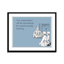 Inspirational Presentation Framed Panel Print