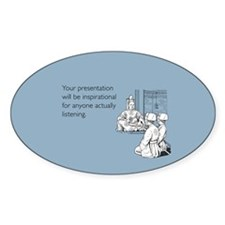 Inspirational Presentation Sticker (Oval)