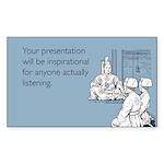 Inspirational Presentation Sticker (Rectangle)