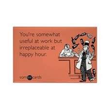 Happy Hour Rectangle Magnet