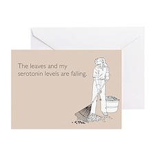 Serotonin Levels Greeting Cards (Pk of 10)