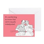 Equally Maladjusted Greeting Cards (Pk of 10)
