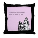 Dating Profile Throw Pillow