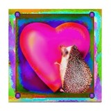 """Hedgie Heart"" Tile Coaster"