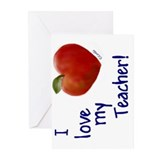 Love My Teacher Greeting Cards (Pkg 6)