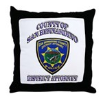 San Bernardino District Attor Throw Pillow
