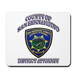 San Bernardino District Attor Mousepad
