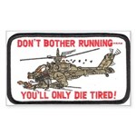 Don't Bother Running Sticker (Rectangle 50 pk)