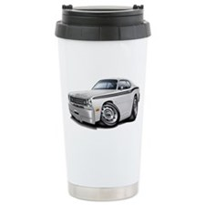 Duster White-Black Car Ceramic Travel Mug