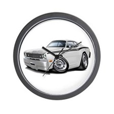Duster White-Black Car Wall Clock