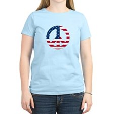 USA Flag Peace Sign T-Shirt
