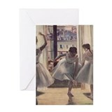 Cute Ballet rehearsal Greeting Card