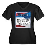 Quotes from Castle Women's Plus Size V-Neck Dark T