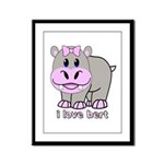Bert the Hippo Framed Panel Print