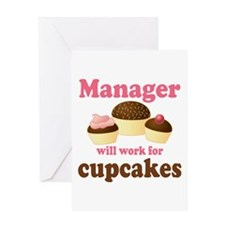 Funny Cupcakes Manager Greeting Card