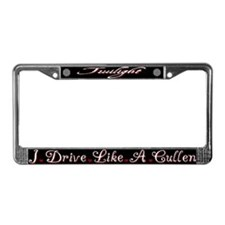 Twilight: Drive like a cullen License Plate Frame
