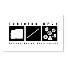 Tabletop RPG Rectangle Decal