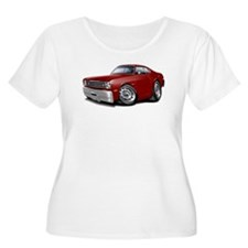 Duster Maroon-Black Car T-Shirt