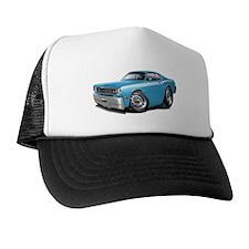 Duster Lt Blue-White Car Trucker Hat