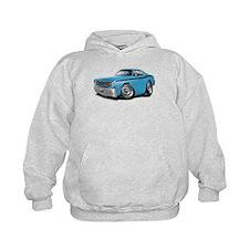 Duster Lt Blue-Black Car Hoodie