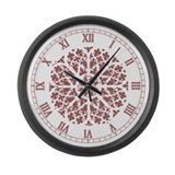 Muted Gothic Rose Large Wall Clock