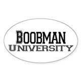 Boobman University Oval Decal