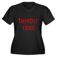 IMPRINT HERE Women's Plus Size V-Neck Dark T-Shirt