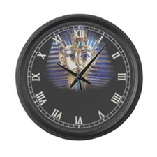 Cute King tut Large Wall Clock