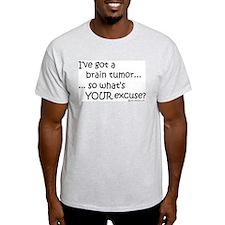 Brain Tumor Ash Grey T-Shirt