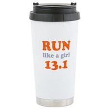 Run like a girl 13.1 Ceramic Travel Mug