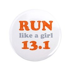 "Run like a girl 13.1 3.5"" Button (100 pack)"