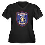 Portsmouth Police Women's Plus Size V-Neck Dark T-