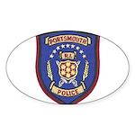 Portsmouth Police Sticker (Oval 50 pk)