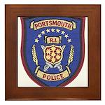 Portsmouth Police Framed Tile