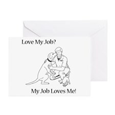 Veterinary Technician Design Greeting Cards (Pk of