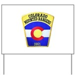 Colorado Mounted Rangers Yard Sign