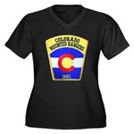 Colorado Mounted Rangers Women's Plus Size V-Neck