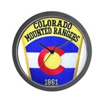 Colorado Mounted Rangers Wall Clock